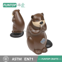 Cheap New promotional brown beaver stress ball