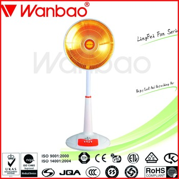 2016 new design stand fan shaped Oscillating 1200w Carbon heater