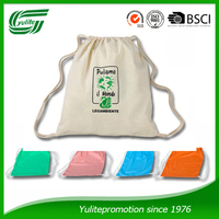 promotion packaging cotton drawstring bag
