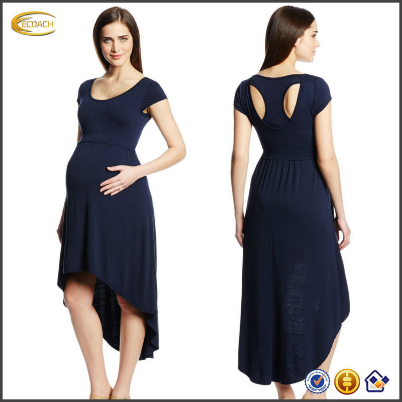 OEM wholesale Maternal America Women's Maternity Hi-Low Nursing cover pregnant evening dress