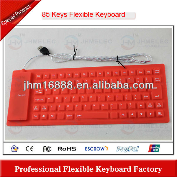85 keys flexible silicone keyboard module