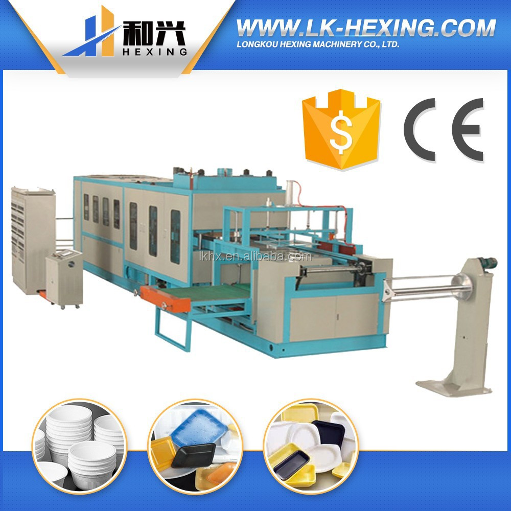 Advanced processing ps/eps foam lunch box/tray making machine