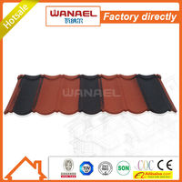 Classical Wanael stone chips coated types of roof covering sheet/roof types roofing/aluzinc roof