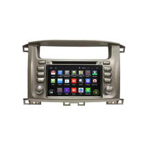 7 inch quad core Android double din car stereo player for Lander Cruiser 100 with 1024*600 HD Screen car dvd