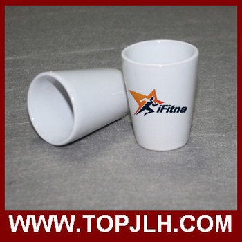 Sublimation White Wine Cup Ceramic Mini Cup 3oz /4oz