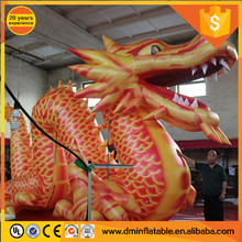 Giant orange Inflatable Chinese Dragon for Advertising Decoration