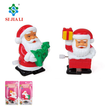 Christmas Promotion Toys Wind Up Walking Santa Claus For Kids