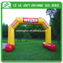 Attractive customized inflatable arch/wedding decoration/racing arch