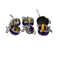 wholesale 12pcs stainless steel vegetable shaped cookware/professional cookware