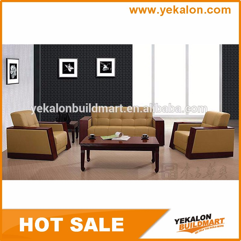 Commercial Modern Style Hotel Living Room Genuine Leather Sofa Set