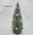 Hot sale white and green fiber optic christmas tree with ball decoration