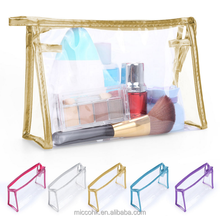 Promotion Clear Vinyl PVC cosmetic toiletry bags