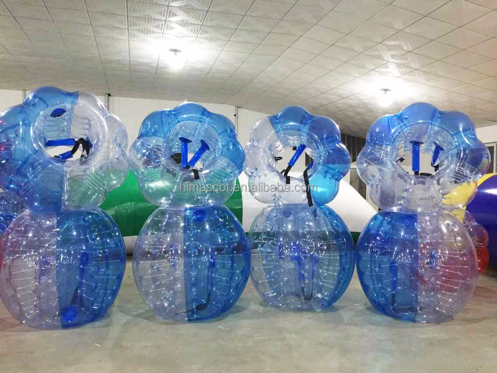 HI CE certificate inflatable human soccer bubble LED light bumper ball 0.8mm PVC size 1.2m bubble soccer ball