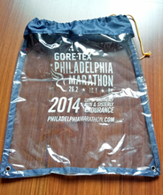 Competitive Customized Drawstring PVC bag with mesh