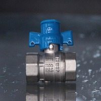 "hot sale 3/4"" brass magnetic lockable ball valve"