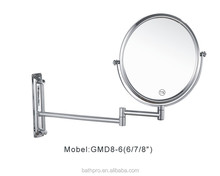 Professional fancy iron brass 3 times magnification makeup cosmetic mirror