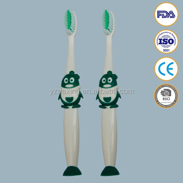 Antibacterial animal shaped toothbrushes for kids