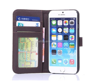 mobile phone protective sleeve for iphone6 plus with bracket leather case for iphone6 with Card slot cellphone shell with purse