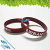 Hot sale debossed silicone bands, Wholesale debossed silicone wristband, Debossed wrist bands