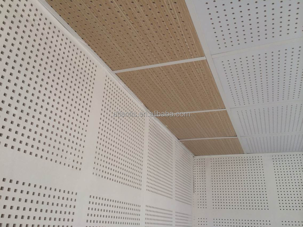 Big small round cross hole perforated gypsum board tile