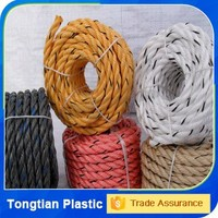 Colored 3 Strands Plastic PP Twisted Packing Rope For Sale