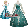 Adult Elsa Princess Dress Snow Queen Dress Costume Cosplay