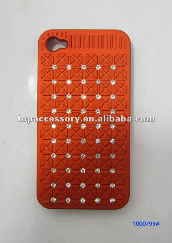 Mobile Phones with Rhinestone Phone case Red Color