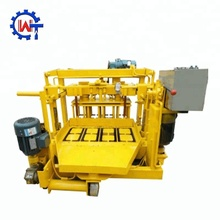 QT40-3 mobile egg-laying manual concrete block / brick making machines