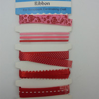 New custom design satin ribbon assorted cotton lace for wedding invitation card making