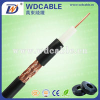 10 Number of Conductors and Coaxial,Low Voltage Type telephone cable price 0.5mm CCS RG6 Coaxial Cable