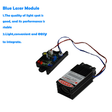 465nm 3500mw Laser Module High Power 3.5W Blue Color Laser Head DIY Metal Engraving Module