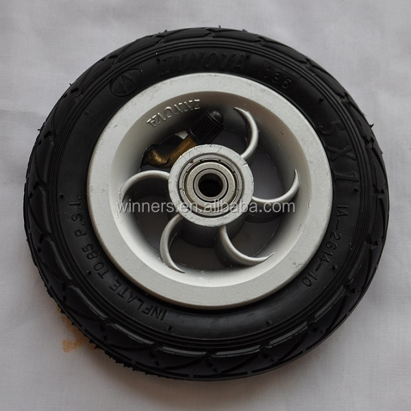 5 inch small pneumatic <strong>wheel</strong> for trolley trailer
