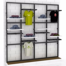 Brand Clothes Shop Names Modern Counter Rack Retail Garment Shop Design