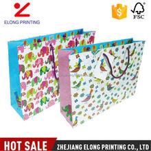 Best selling super quality cute animal handle recycle shopping kraft paper bag