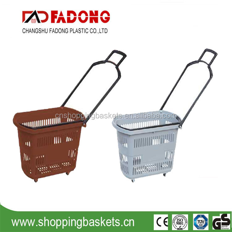 Rolling Plastic Basket with wheels