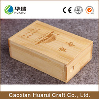 Wholesale handmade bamboo wooden packaging cigar box for sale