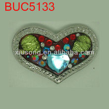 BUC5133 Heart Rhinestone Jewels Vintage Belt Buckle
