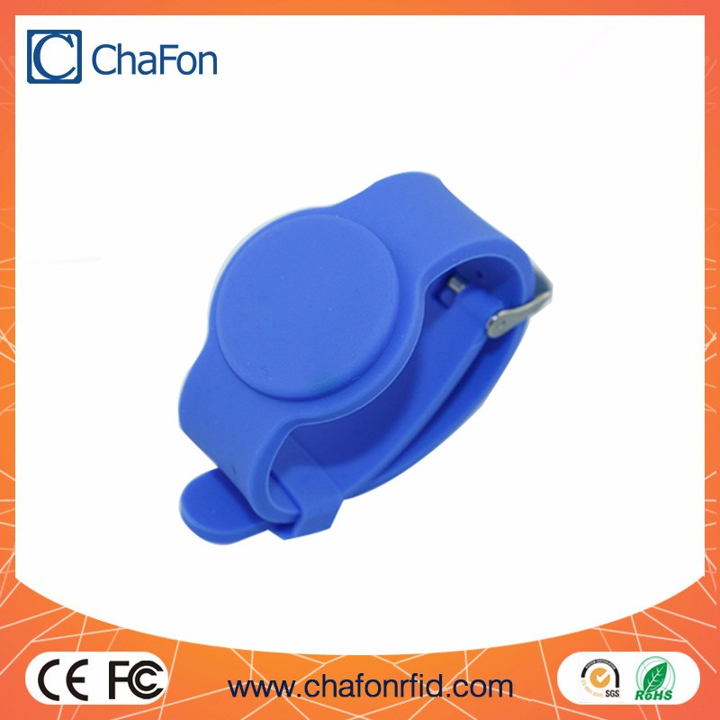 Custom silicone wristband writable passive rfid tag
