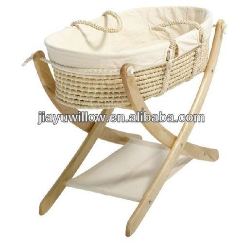 Cuna del beb cuna cesta de paja tejida artesan a - Cunas rusticas para bebes ...