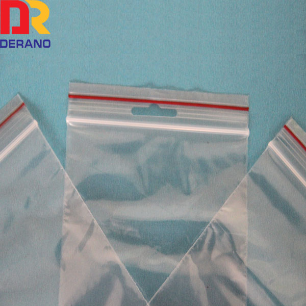 High quality food storage poly plastic custom zipper bag