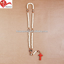 wood rosary with JESUS image