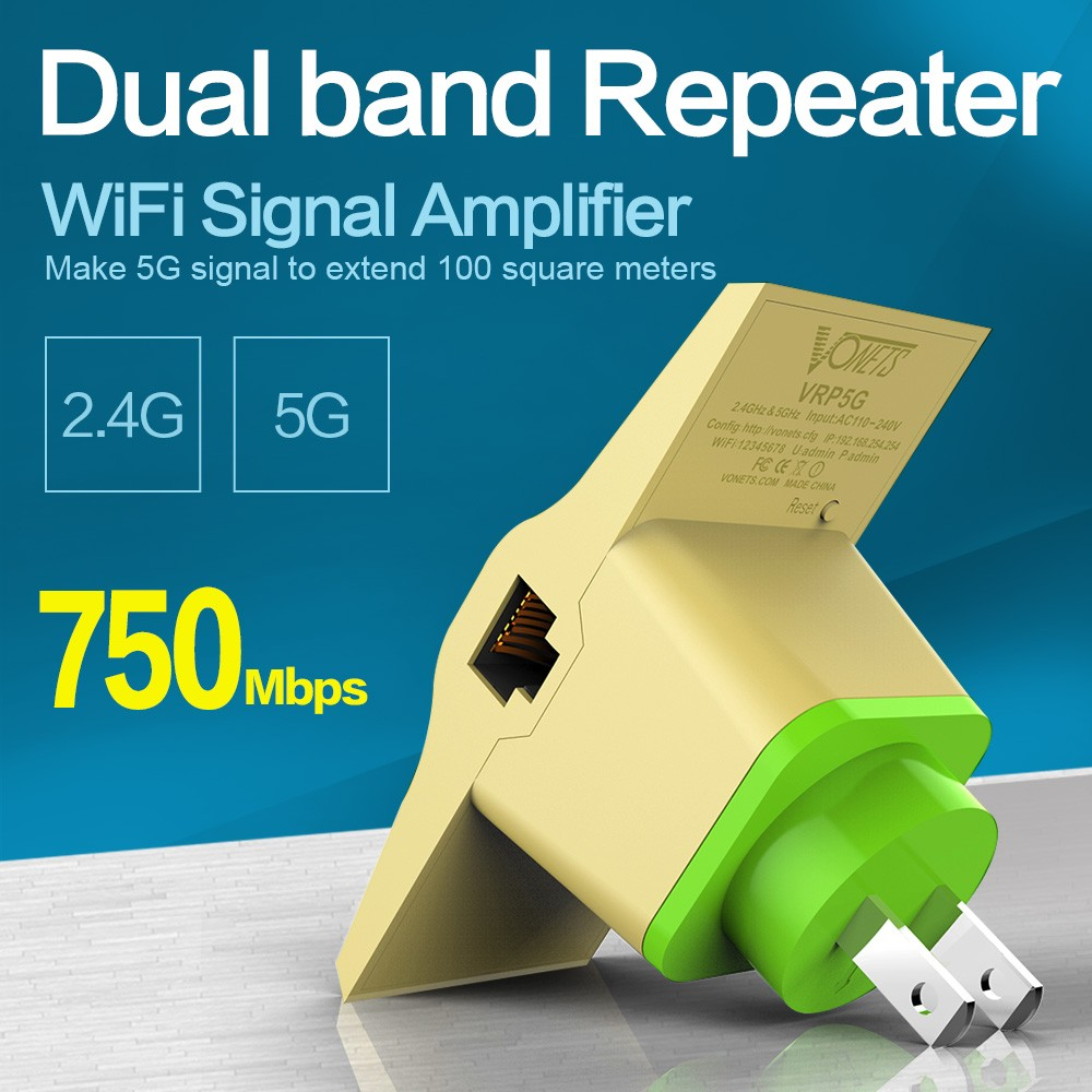 VONETS VRP5G WiFi Transmission 750Mbps Wireless Dual Band Gsm Repeater