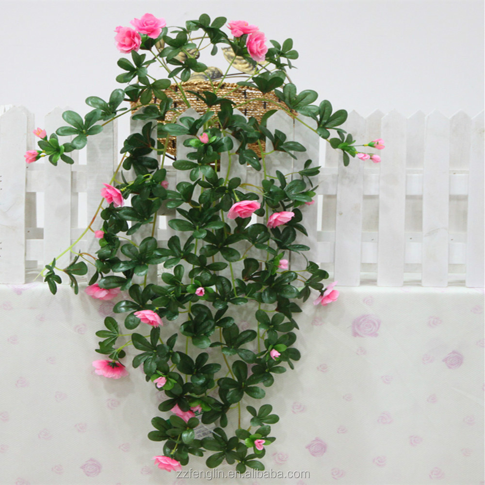 New Handmade Fashion Azalea Artificial Flowers Rattan Garland