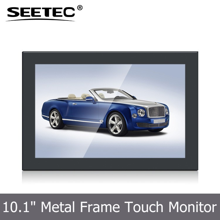 Indoor 10.1 inch <strong>16</strong>:9 wall mount display high brightness 350cd/m metal monitor for Closed-Circuit Surveillance Systems