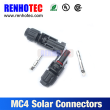 High quality single type MC4 solar panel connector cheap price mc4 solar cable connector