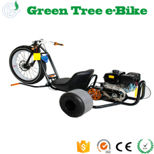 196CC Gas Power Drifting Speedway Three Wheels Motorized Fat Tyre Recumbent Trike Adult Tricycle for Sale