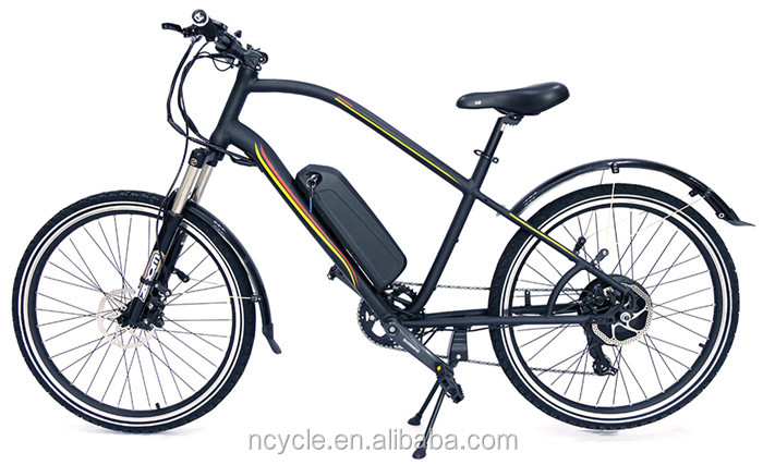 Front suspension Rear Hub Motor Electric Bike City Bicycle For adults