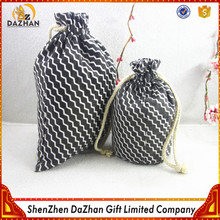 Cheap Wholesale Large Black Cotton Drawstring Bag For Activated Carbon