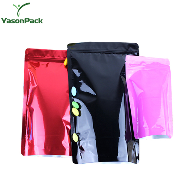 Custom Printed Stand Up Plastic Packaging Color Zip Lock Aluminium Foil Bag For Food Grade