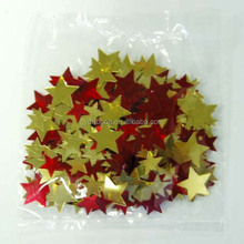 1mm-5mm diameter Red and Golden Metallic Glitter Star Shape Confetti for party decoration
